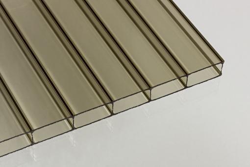 Doppelstegplatte 16mm bronze