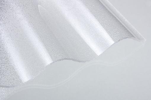 Acrylglas Wellprofil 76/18 klar c-struktur
