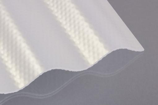 Acrylglas Wellprofil 76/18 klima-blue