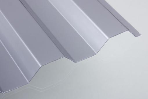 Polycarbonat Trapezprofil 76/18 silber-metallic