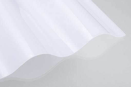 Polycarbonat Wellprofil 76/18 opal