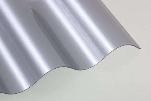 Polycarbonat Wellprofil 76/18 silber-metallic
