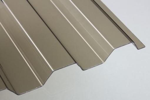 PVC Trapezprofil 70/18 bronze 1,4mm