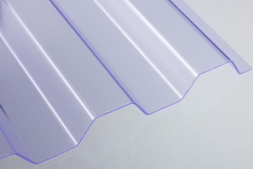 PVC Trapezprofil 70/18 klar 1mm